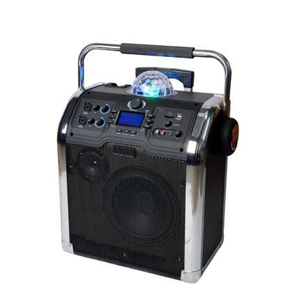 PA speaker system /Portable PA System with USB/SD/BT/Tuner and Disco Light