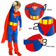 Kids Super Hero Man Halloween Cosplay Clothes Suit Costumes with cloak