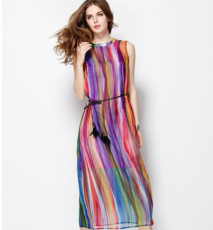 Casual Maxi Dresses with Sleeves 2015