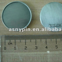 antique silver sublimation metal coin blanks 1inch metal blank token coins