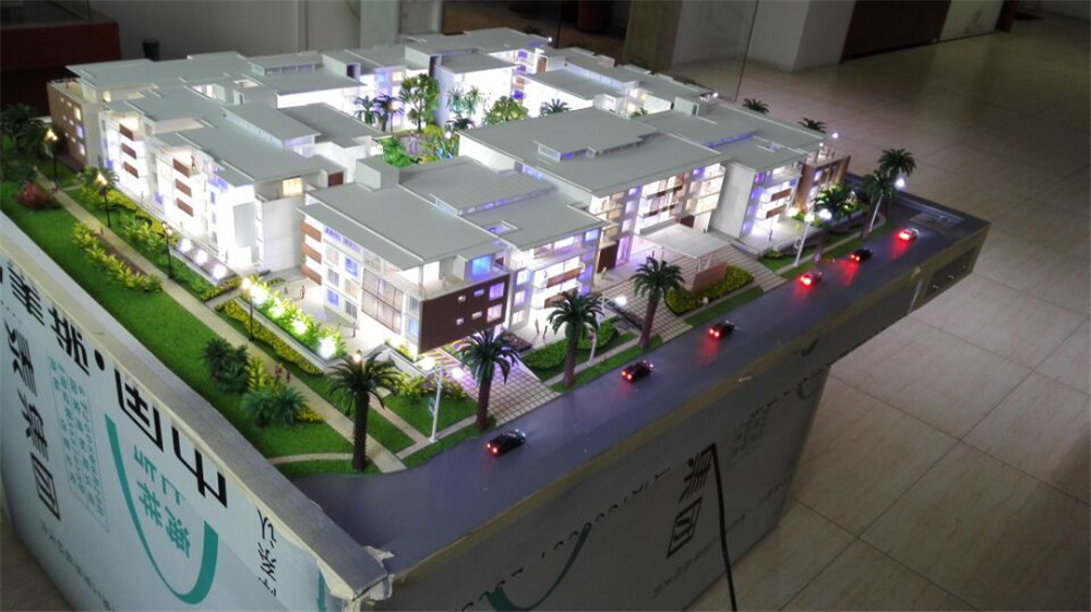 Apartment Model For Exhibition With Led Light Miniature