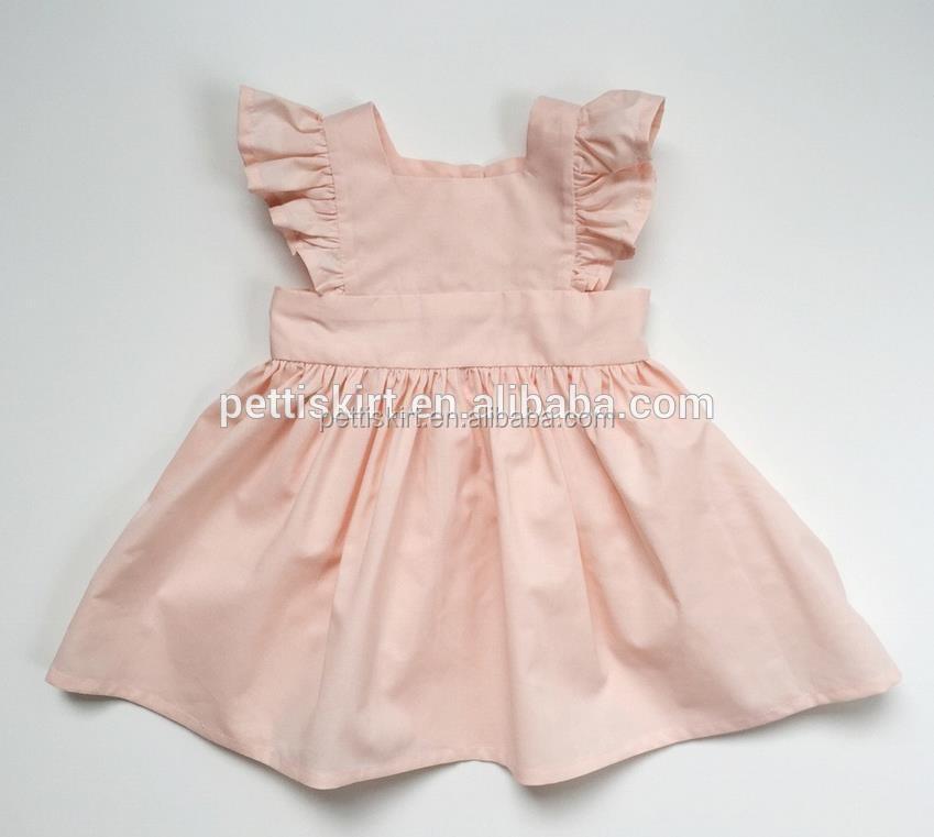 e7a6c4c27 Fashionable Long Sleeves Frocks Design Baby Girls Dress Plain White ...