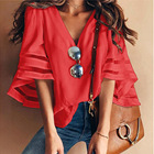 or10398h New model europe style woman blouse loose ladies tops