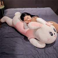 2020 hot selling cute cartoon plush rabbit pillow toy