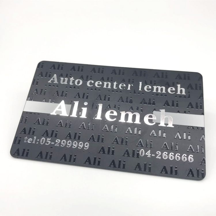 Custom Private Design Magnetic Strip Stamping Number Plastic Business Card with Barcode Printing