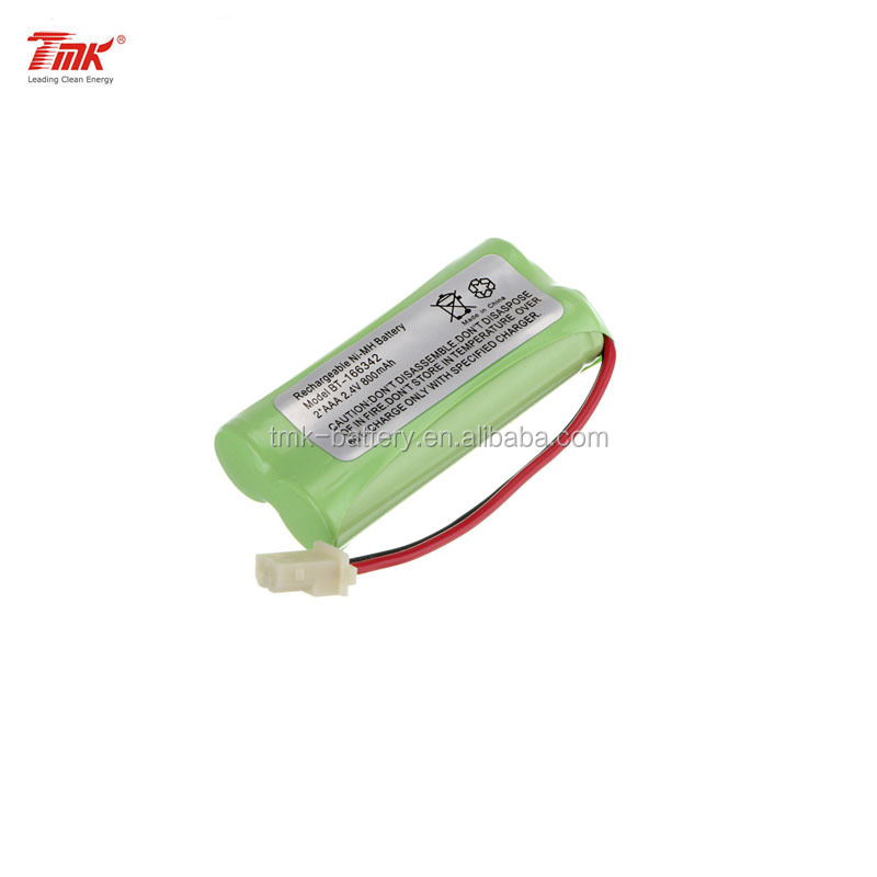 TMK Ni-MH 2.4V AAA800mAh Rechargeable Battery Pack with UL1007 Wires and Molex Connector for cordless phone