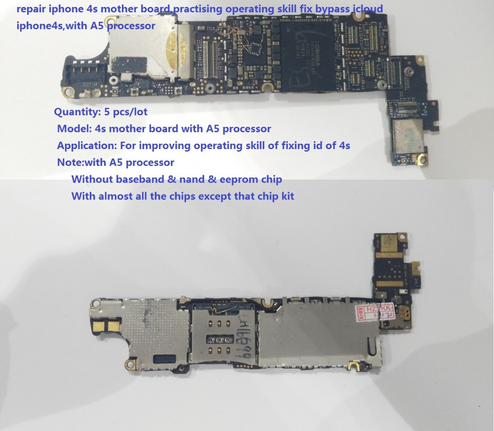 repair iphone 4s board,practising operating skill fix bypass icloud  iphone4s,with A5 processor