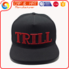 5 Panel Puff Embroidery Flat Brim Cheap snapback cap snapback hat cap factory