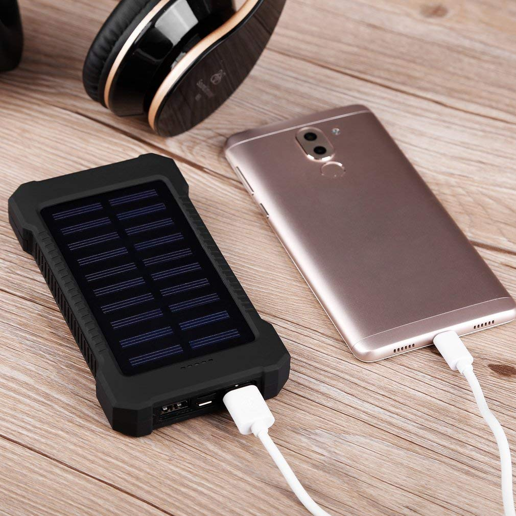 black Search Terms: Waterproof, 300000mAh Power Bank, Solar Charger, Dual USB Waterproof 300000mAh Portable Solar Charger Dual USB Battery Power Bank