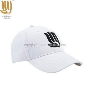 Wholesale Custom 6 Panel Embroidery 100% Cotton One Size Fit All White Dad Baseball Hat Cap Sports Caps