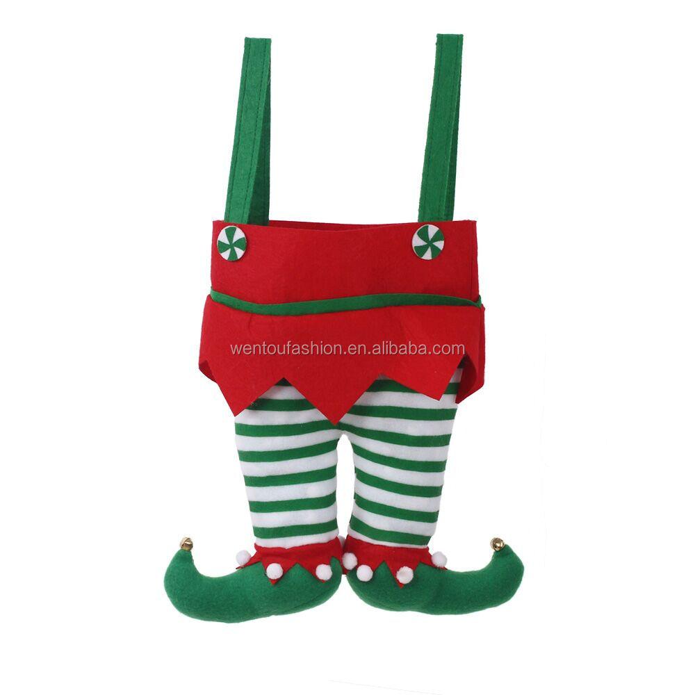 personalized blank felt christmas elf stocking buy christmas elf