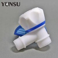 single handle pp plastic angle stop water valve