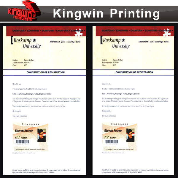 Custom Direct Mailing Printing and Packing Service	NO.301 Providing Reply Envelopes