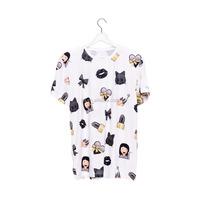 OEM Brand New 3D Print Custom Women Emoji T-shirt Wholesale