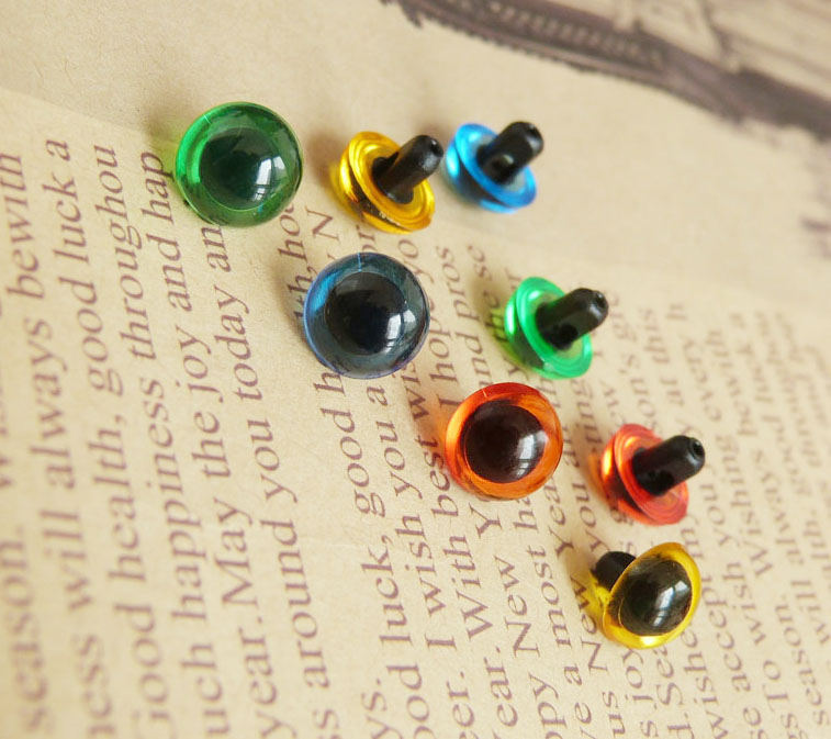 new arrvial 50pcs handscrew toy eyes green red yellow blue clear color option 9mm 10 5mm