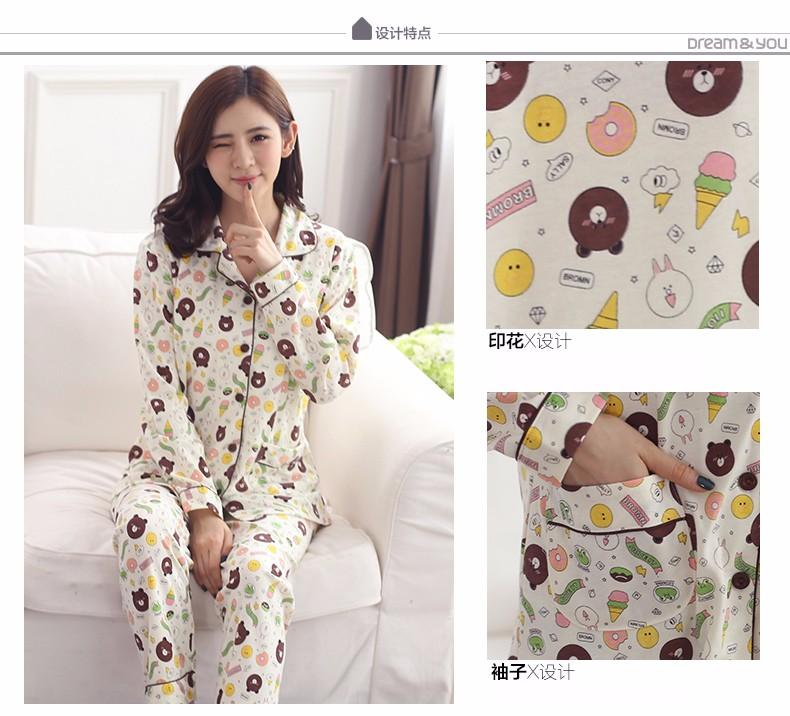 440a9c670a 2019 Wholesale 2017 New Women Long Sleeve Cotton Sleep Pajama Sets ...