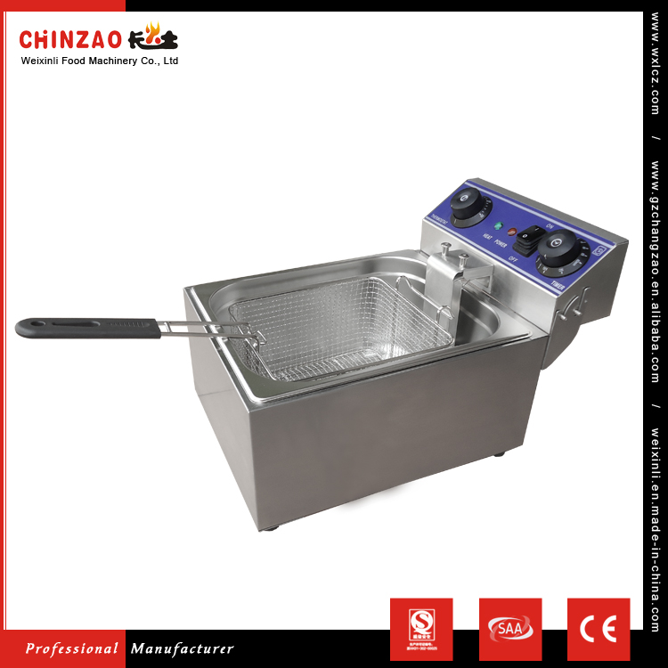 CHINZAO Factory Quality Product Automatic Snacks Deep Fryer Electric Heating Element With Single Inner Pot