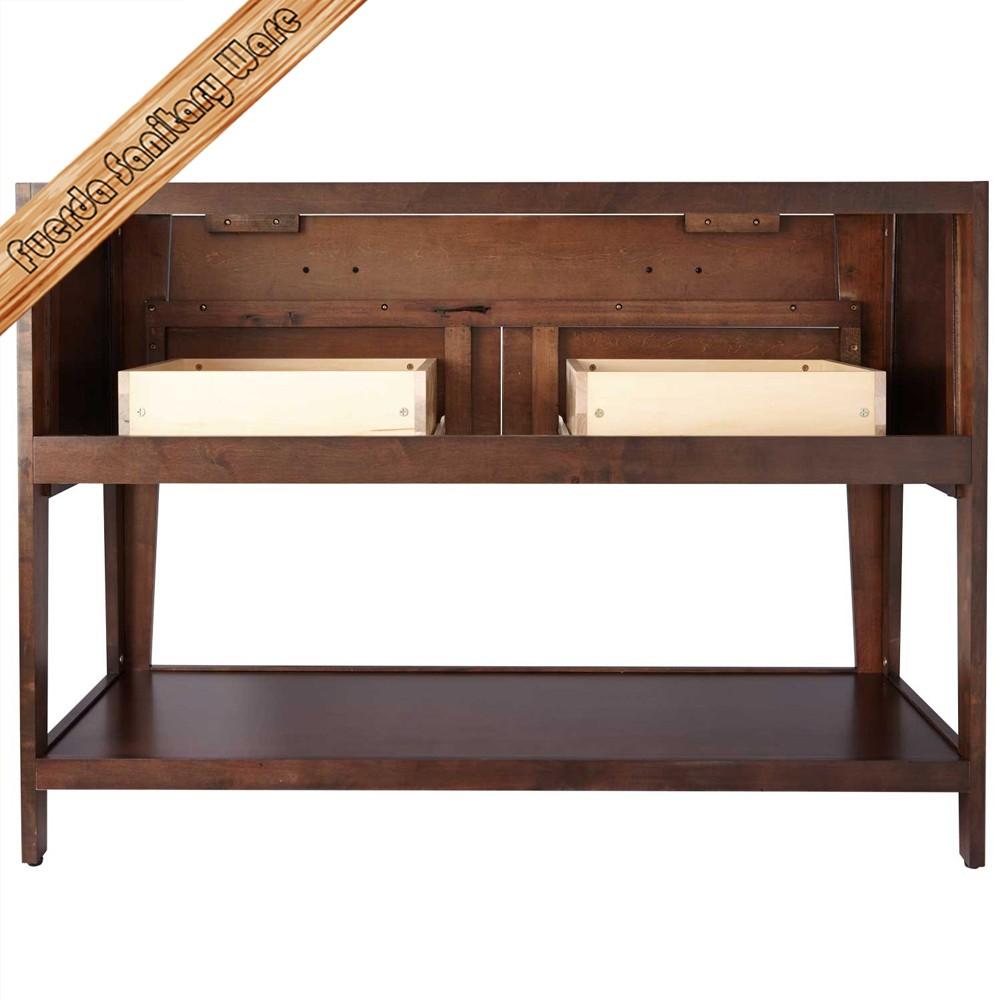 low price 48 inch solid wood single sink bathroom vanity