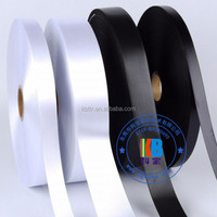 Clothing care label type wholesale woven white satin ribbon