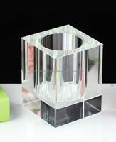 octange personalized crystal pen holder souvenir for office decoration