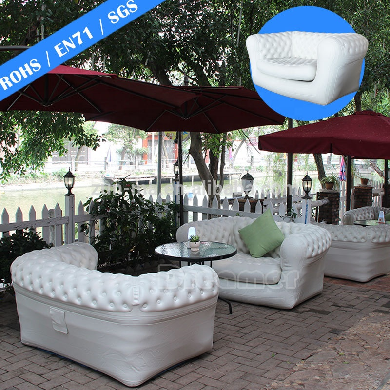 Top Selling white lounger sleeping corner camping relax giant chesterfield air outdoor inflatable <strong>sofa</strong>