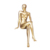 Sitting gold painting body nude big breast busty breasted girl female chest mannequins