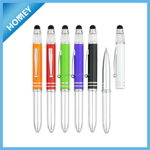 High Quality crystal light Metal Ball Pen, touch screen pen,Engraving Pen Logo,
