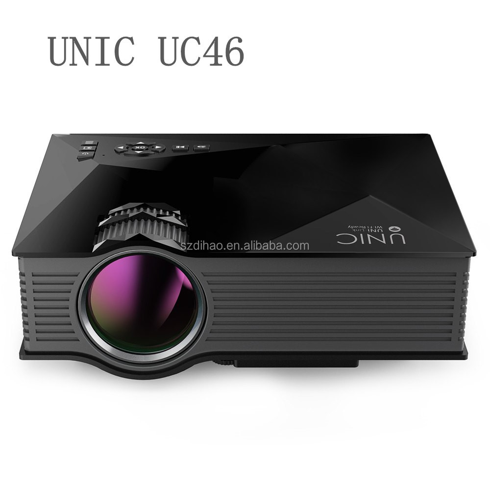 DIHAO Unic UC46 portable mini projector infocus full hd 3d led projector 1080p for home video