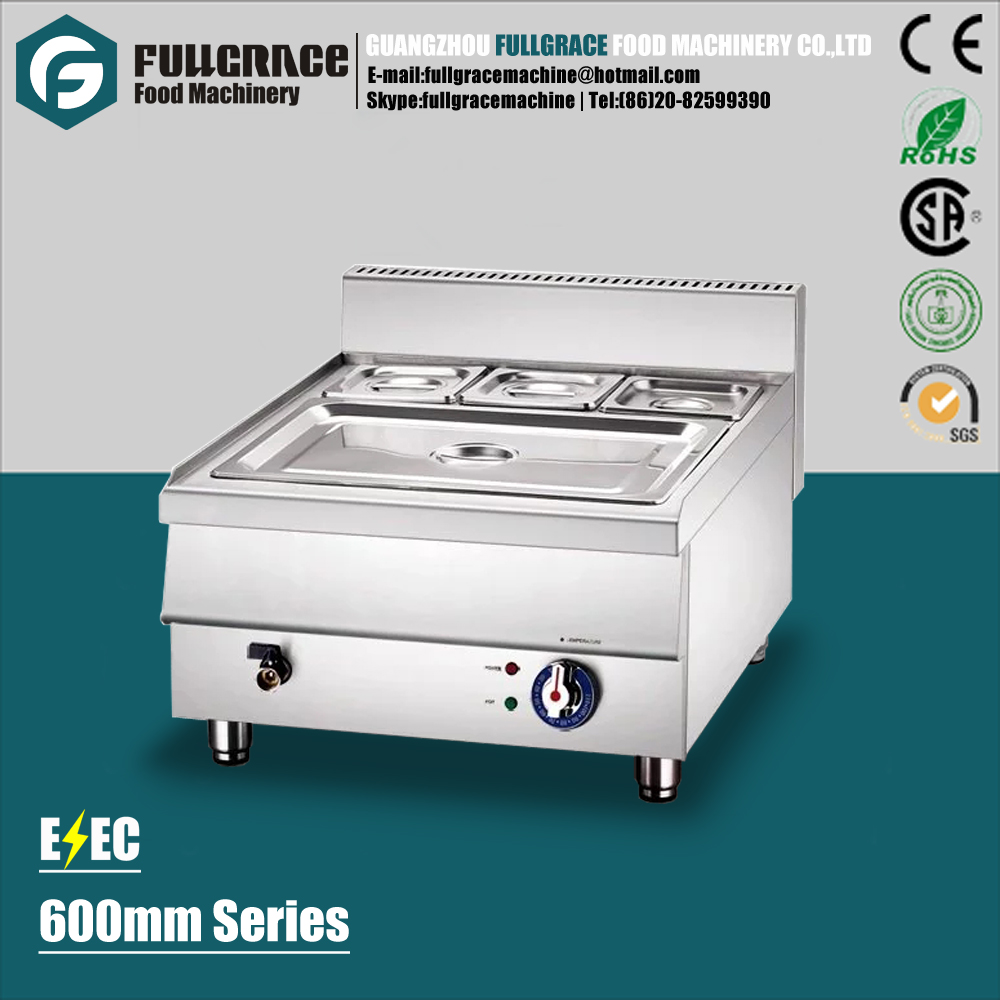 popular for restaurant 600mm counter top cooking range stainless steel hot soup electric bain marie
