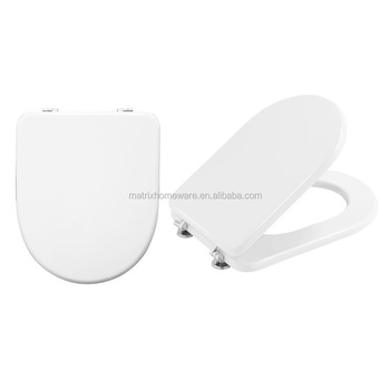 MDF Wooden Square Shaped White Contemporary Toilet Seats Lid Covers With  Compact Valentina Style Mdf