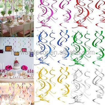 Diy Hanging Swirls Decoration Spirals Ceiling For Christmas New Year Wedding Party