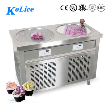 Good quality fried ice cream machine double pan