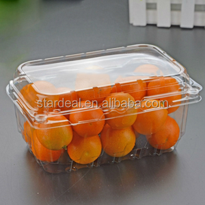custom clear blister plastic high quality food packaging trays for Cherry Tomato / Oranges