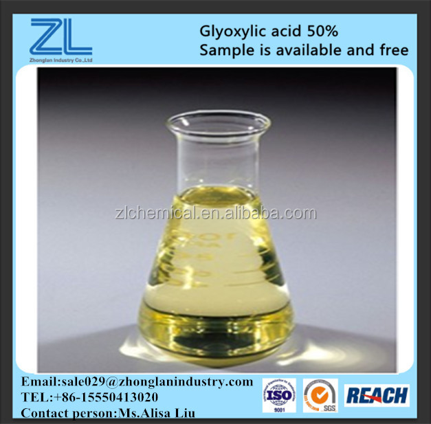 glyoxylic acid 50% used for hair without heavy metal,CAS NO.:298-12-4