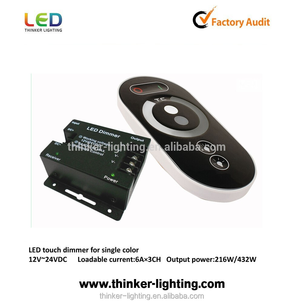 12v Dimmer Touch Remote Control Rf