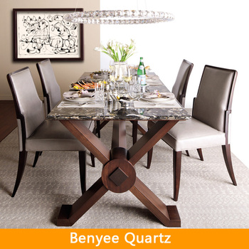 Engineered quartz stone dining table top buy marble top for Quartz top dining table