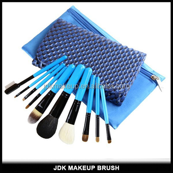 JDK 10PCS Make Up Artrist Tool with Makeup Brush Bag