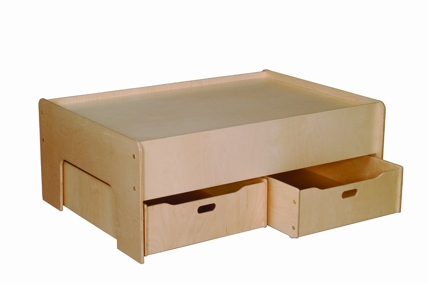 Little Colorado Play Table and Storage Drawers, Natural