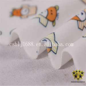 Cartoon Characters Printed Microfiber Short Pile Coral Fleece Fabric For Baby Garment And Blanket