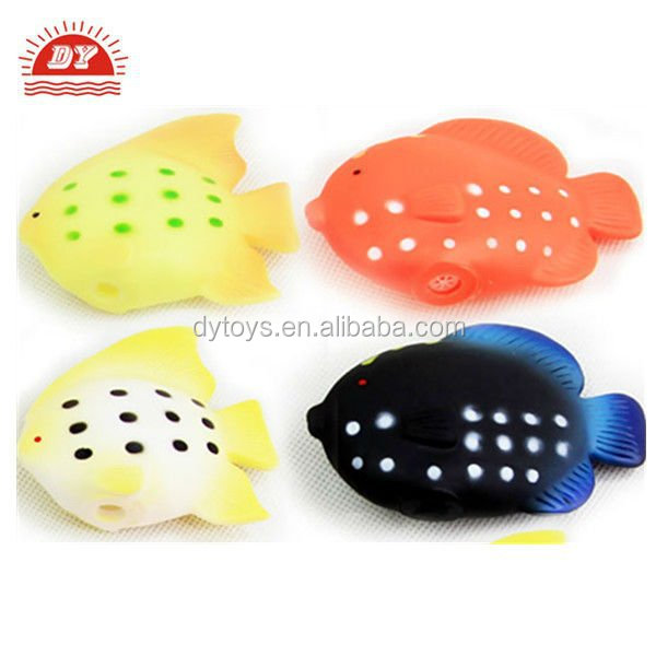 ICTI certificated custom made plastic sound module tube fish toy