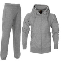 Wholesale Mens Gym Wear Fleece Jogging Pockets Bottoms Front Zip Plain Tracksuit Men Winter Sweat Suit