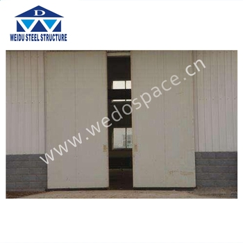High Quality Japanese Style Industrial Sliding Garage Door For Sale