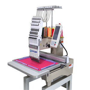 15 colors single head computer flat embroidery machine prices tajima style bordadora big lun pictures