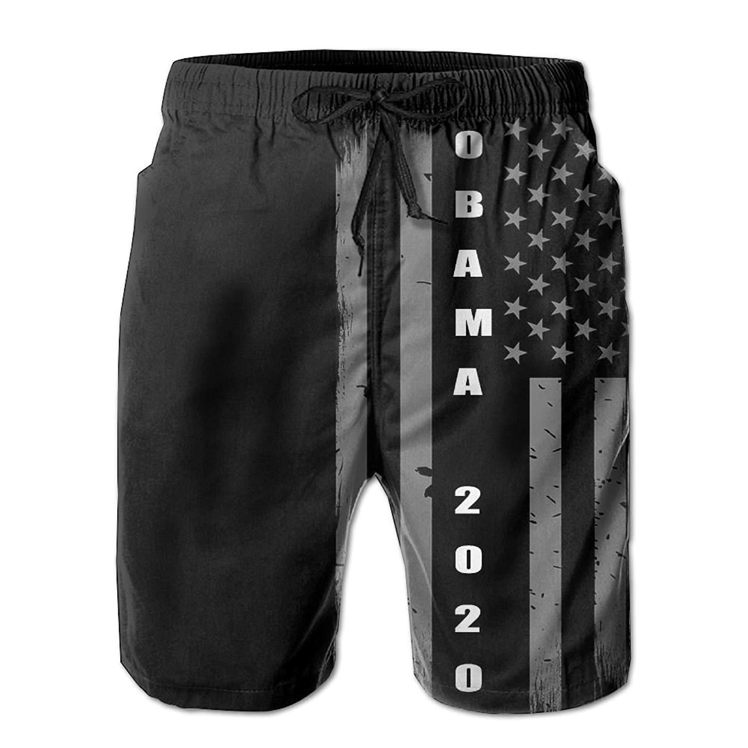 4ced7a19 Get Quotations · Listen-wind Men's Summer Obama 2020 Vintage USA Flag Quick  Dry Beach Shorts Swim Trunks