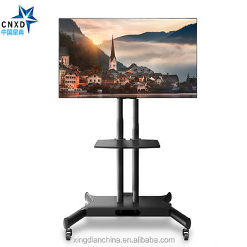 Ccnxd D880 Height Adjustable 90 Degree Swivel Moving Tv Stand Mount