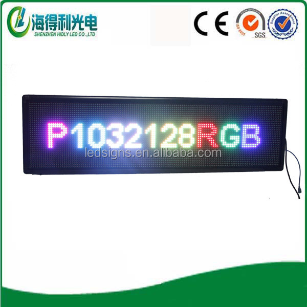 shen zhen factory produce p10 smd full color led modules led time text advertising display board