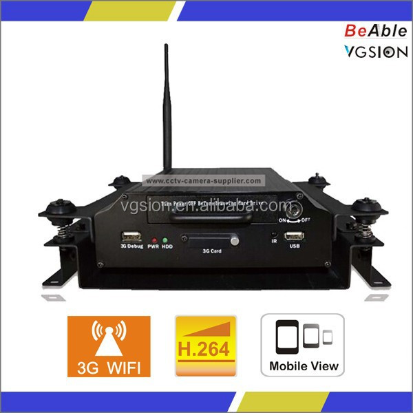 4 CH/8CH full D1 CIF 3G mobile in car cctv dvr for vehicles with vehicle tracking system