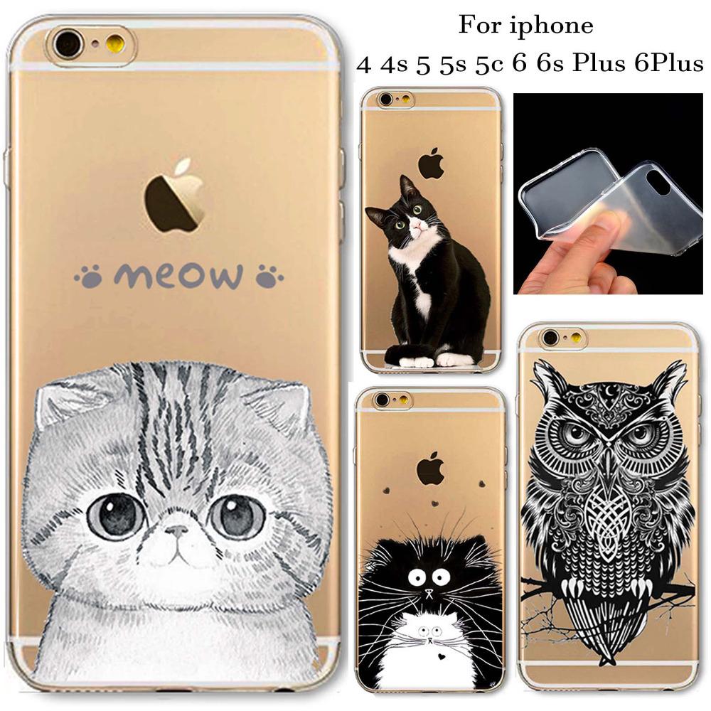Case For iPhone 4 4s 5 5c 5s SE 6Plus 6 6s Plus New Arrival Soft