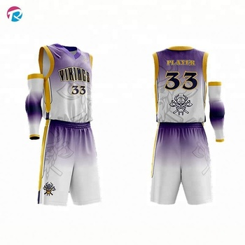 C6365ccf1 Sublimation Reversible Custom Basketball Jersey