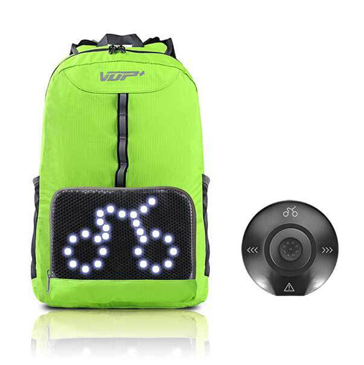 High quality New product LED Safety Turn Signal Cycling Backpack